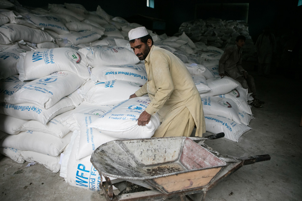 Distribution de nourriture à Jalalabad