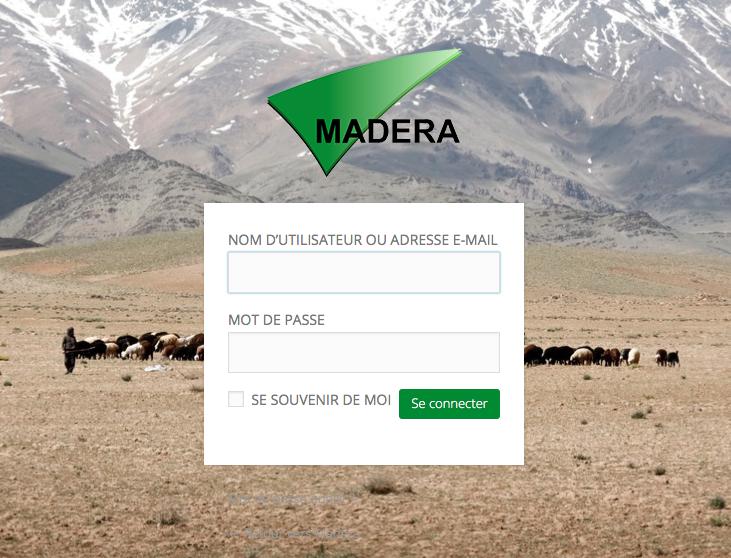 se connecter au tableau de bord du site de MADERA